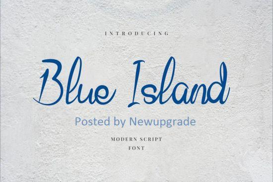 Blue Island Hand Letter Script Font