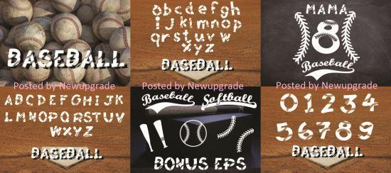Baseball Softball Lace Font