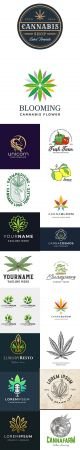 Cannabis Hemp and other Natural Logo Template