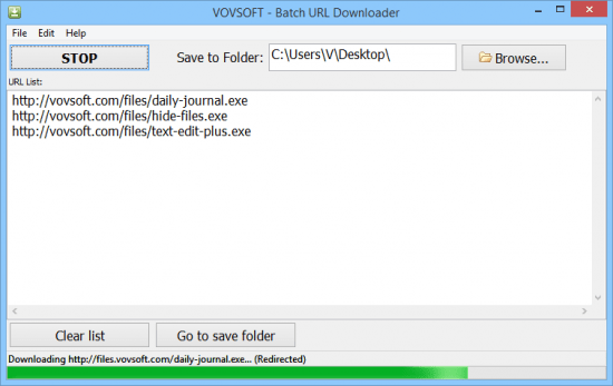VovSoft Batch URL Downloader 1.9