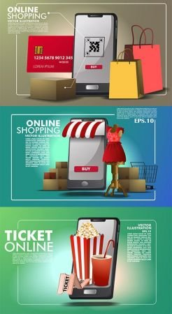 Online Shopping Application Template Set