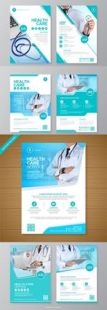Corporate Healthcare Medical Flyer Design Template Set