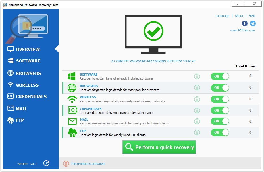 Advanced Password Recovery Suite 1.0.7