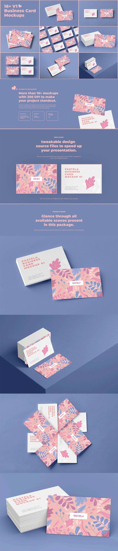 Business Card PSD Mockups Collection V1