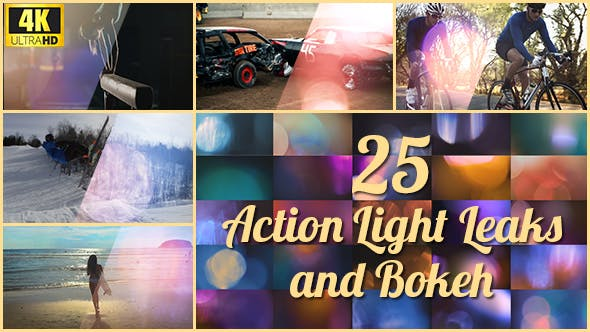 Videohive - 25 4K Action Light Leaks and Bokeh - 21357857 - FREE