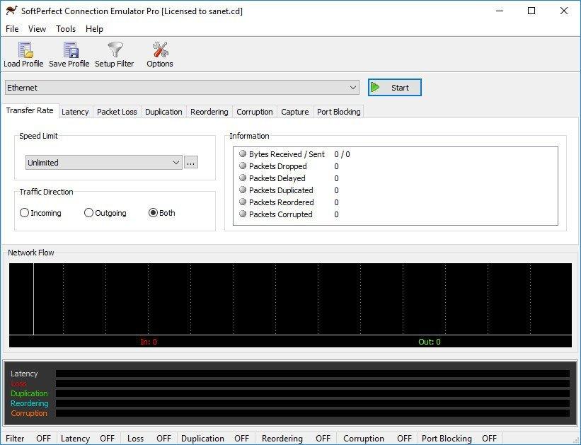 SoftPerfect Connection Emulator Pro 1.8