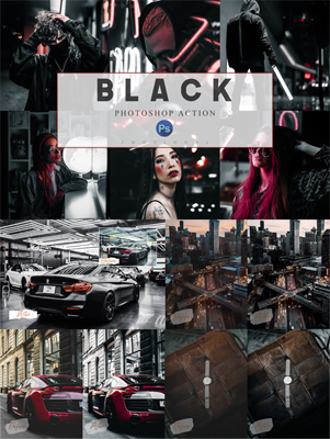 Black Luxury Theme - 6 Photoshop Actions, ACR and LUT Preset