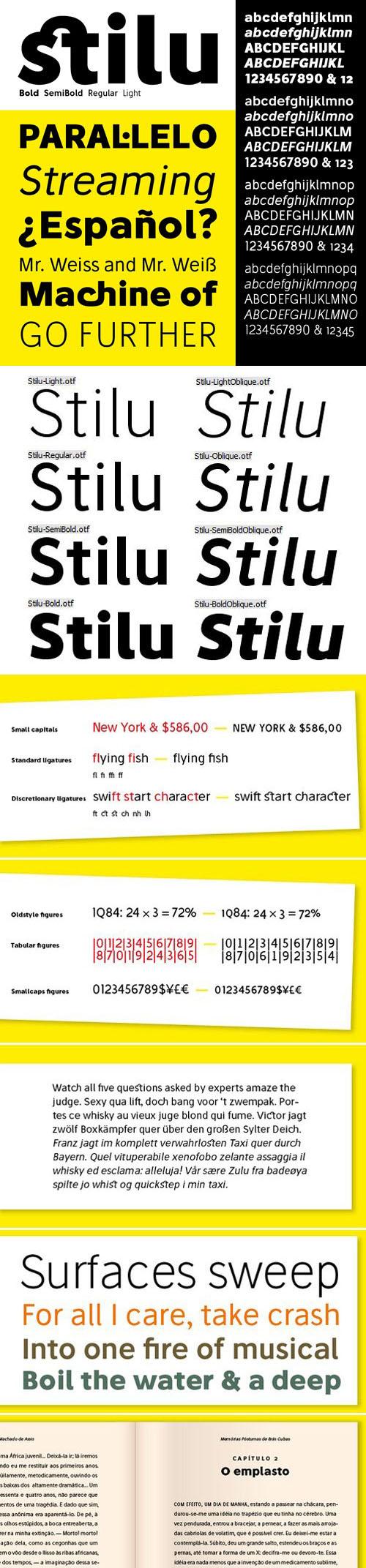 Stilu Sans Serif Font Family [8-Weights]