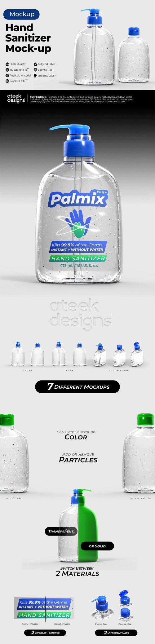 Hand Sanitizer PSD Mockups