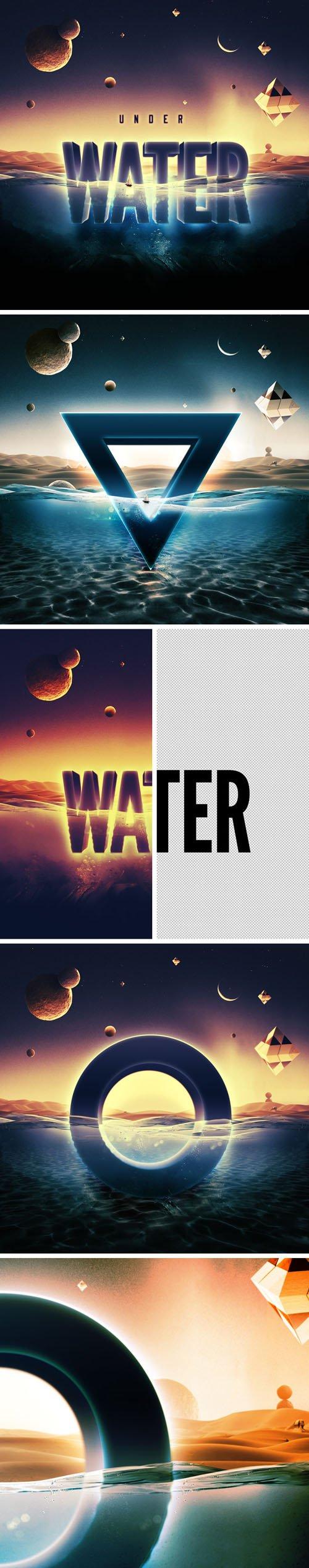 Underwater Photoshop Text Effect