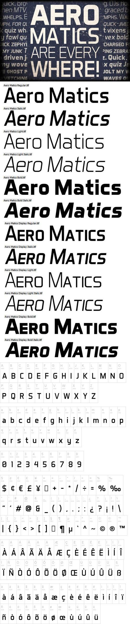 Aero Matics Font [12-Weights]