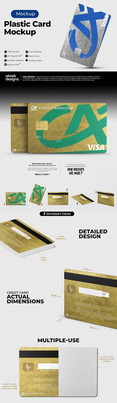 Plastic Card PSD Mockup