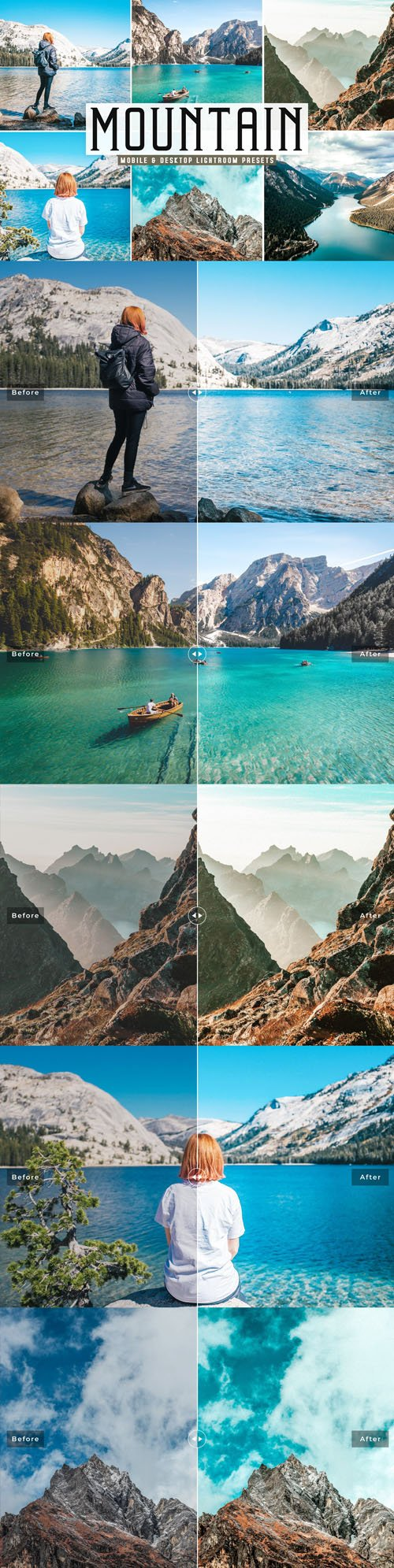 Mountain Pro Lightroom Presets + Photoshop Actions [Mobile & Desktop]