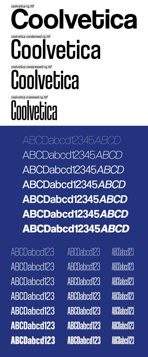 Coolvetica Sans Serif Font [4-Weights]