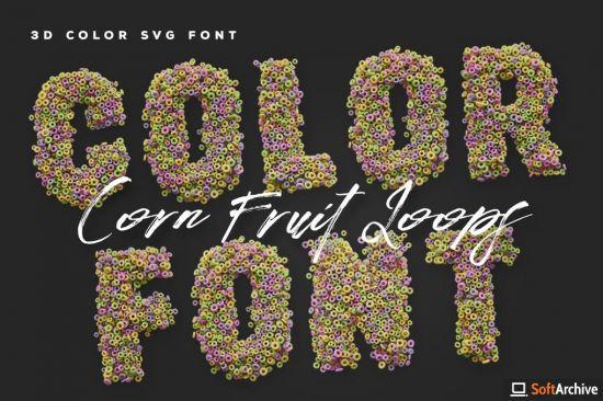 Corn Fruit Loops Color Fonts