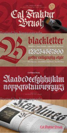 Cal Fraktur Brush Regular Font