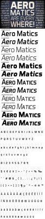 Aero Matics Font [12 Weights]