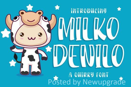 Milko Denilo   a Quirky Font