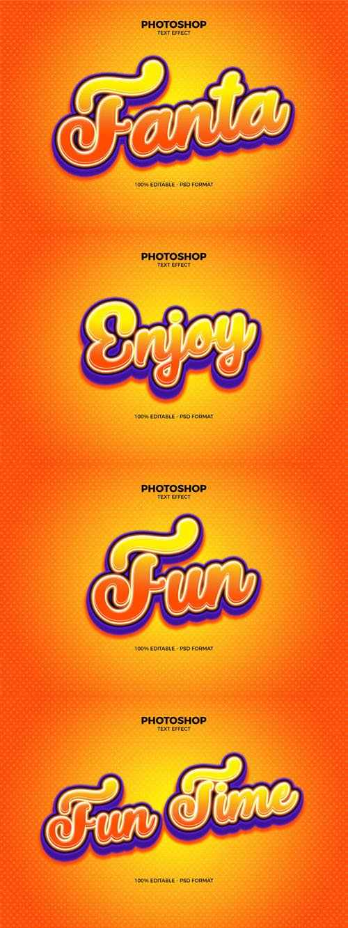 Fanta Photoshop Text Effect