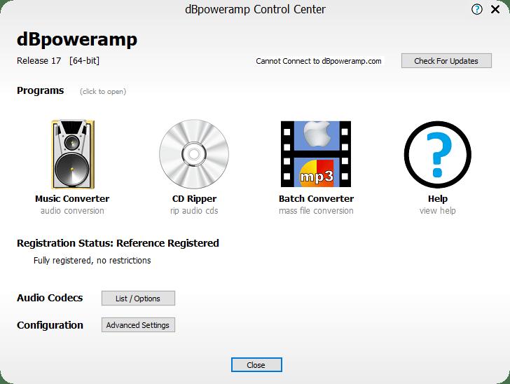 dBpoweramp Music Converter R17.0 Reference