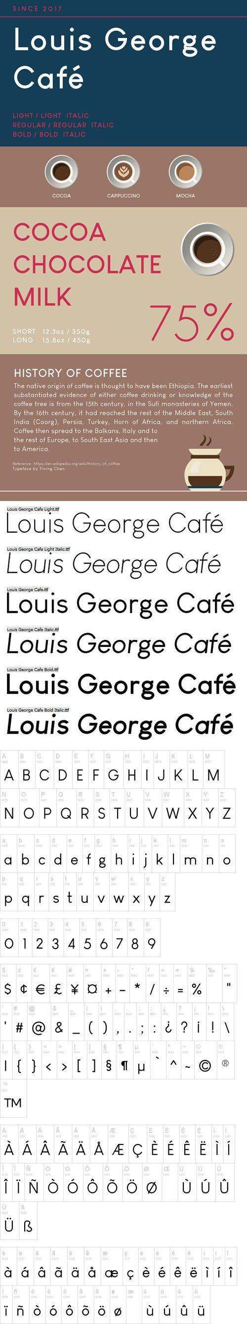 Louis George Cafe Sans serif Font [6-Weights]