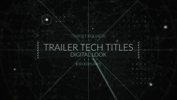 Videohive - Military Radar Titles - 26886805 - After Effects Project Files