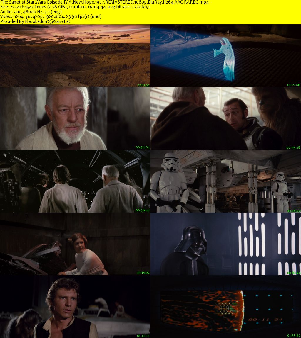 Download Star Wars Episode Iv A New Hope 1977 Remastered 1080p Bluray H264 Aac Rarbg Softarchive
