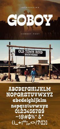 Go Boy   Cowboy Font