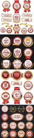 Luxury premium gold badges and labels collection 7