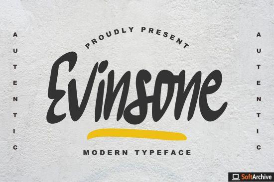 Evinsone Modern Typeface Font