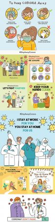 Stay home for safety and let 's fight coronavirus together