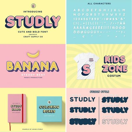 Studly   Layered Font Family