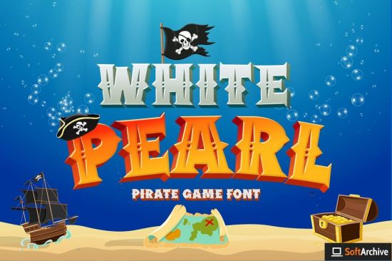 White Pearl   Pirate game font