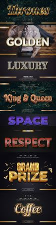 Editable font effect text collection illustration design 79
