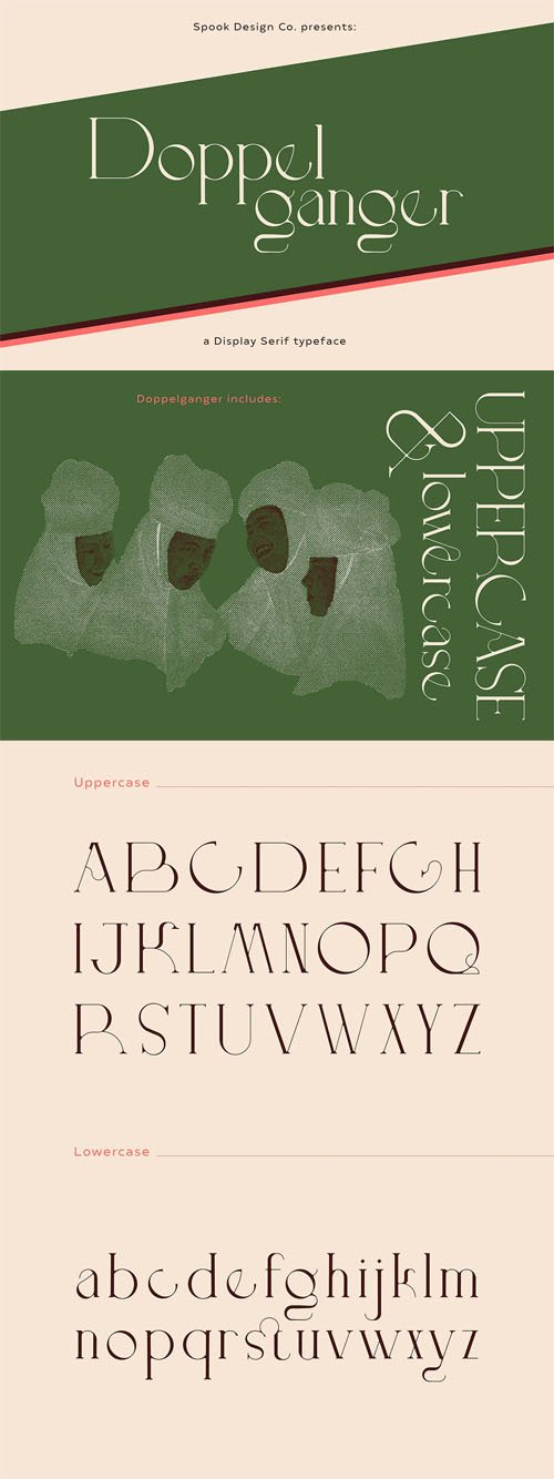 Doppelganger Display Serif Typeface