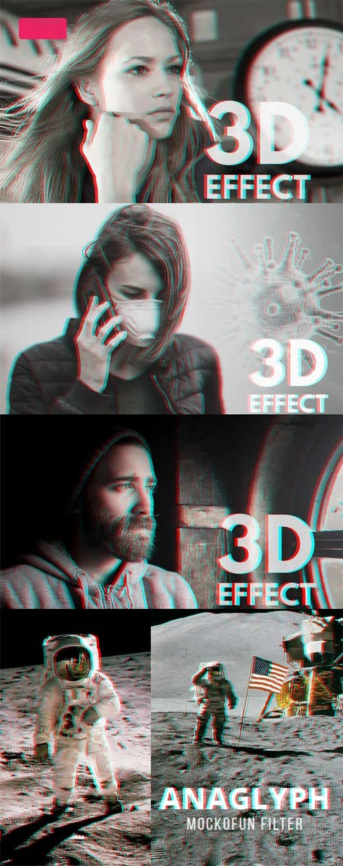 Anaglyph Photoshop Action - 3D Effect