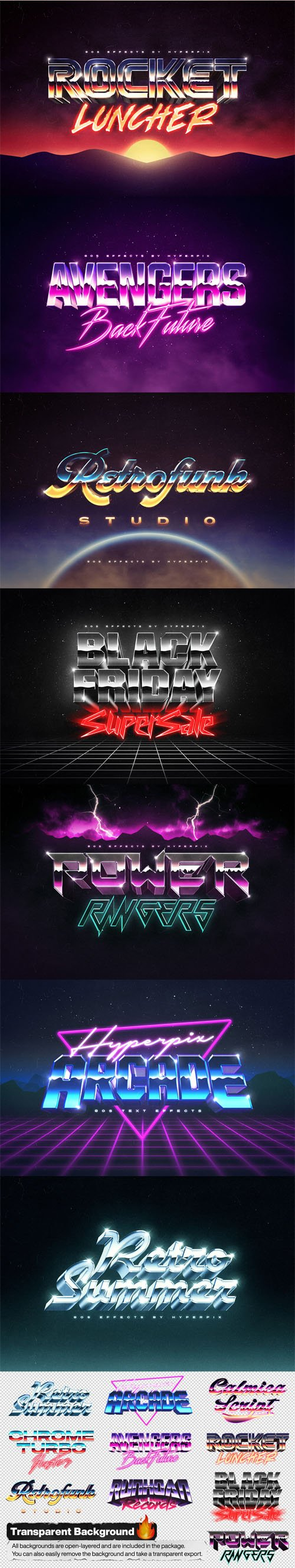 1980s Text & Logo Effects for Photshop Vol.4