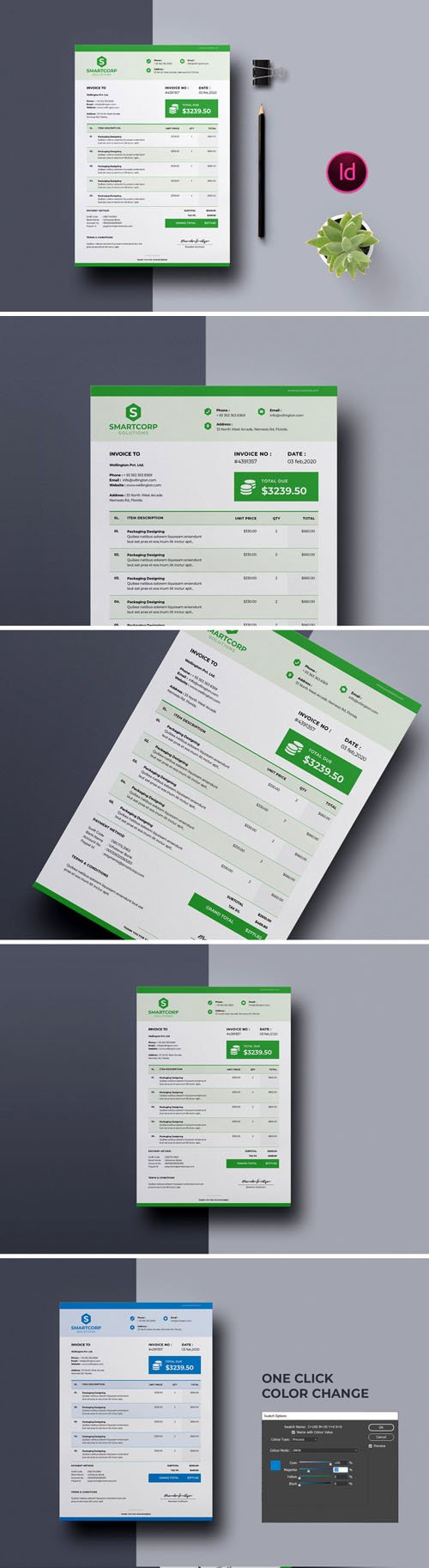 Invoice Template Vol.3 [A4/US-Letter] - Indesign Template