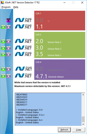 ASoft .NET Version Detector 20 R1