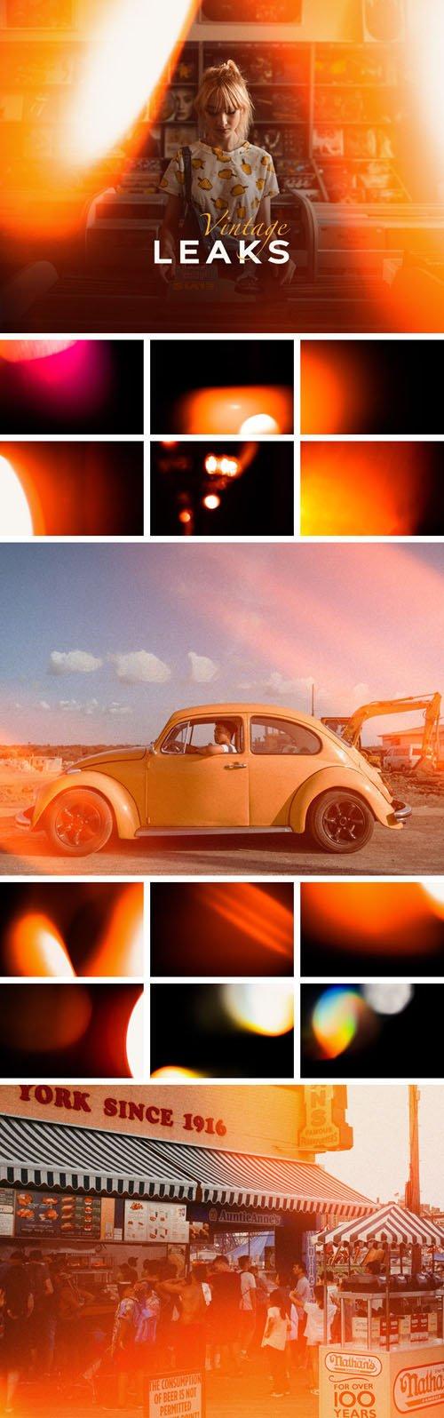 Sunny Leaks - Vintage Photoshop Overlays