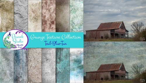 The Grunge Texture Collection - 12 Overlays