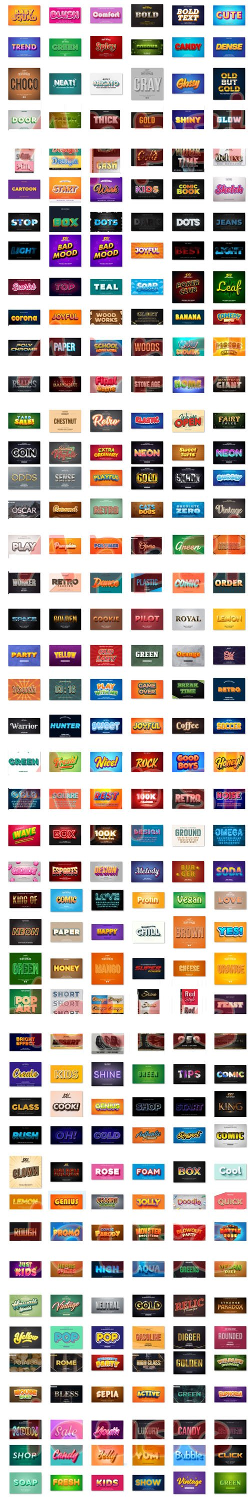 222 Editable Text Effects Illustration Design Collection