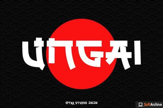 UNGAI   faux japanese font
