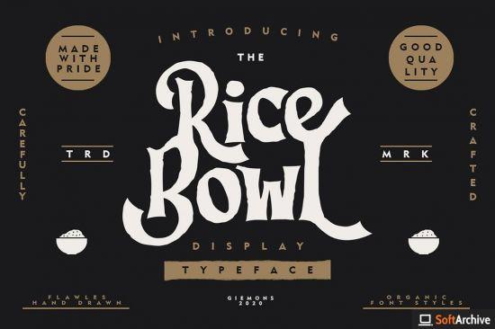 Ricebowl Typeface Font