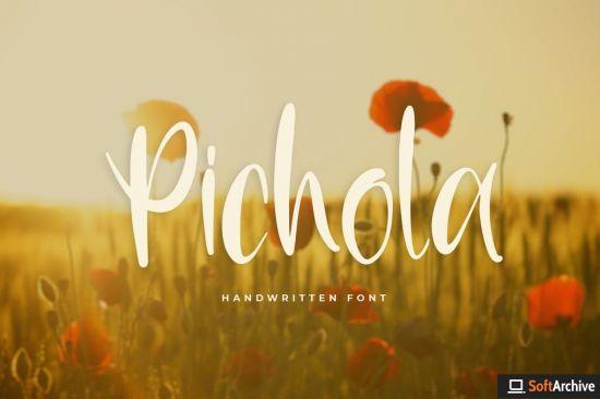 Pichola   Handwritten Font