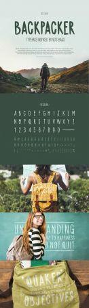 Backpacker Vector Typeface