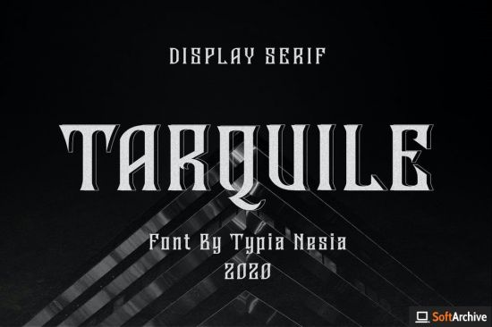 Tarquile   Game Display Font