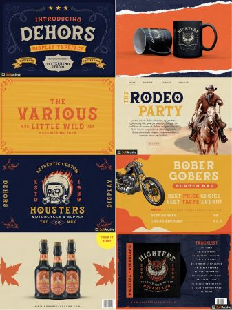 Dehors   Western Display Typeface Font