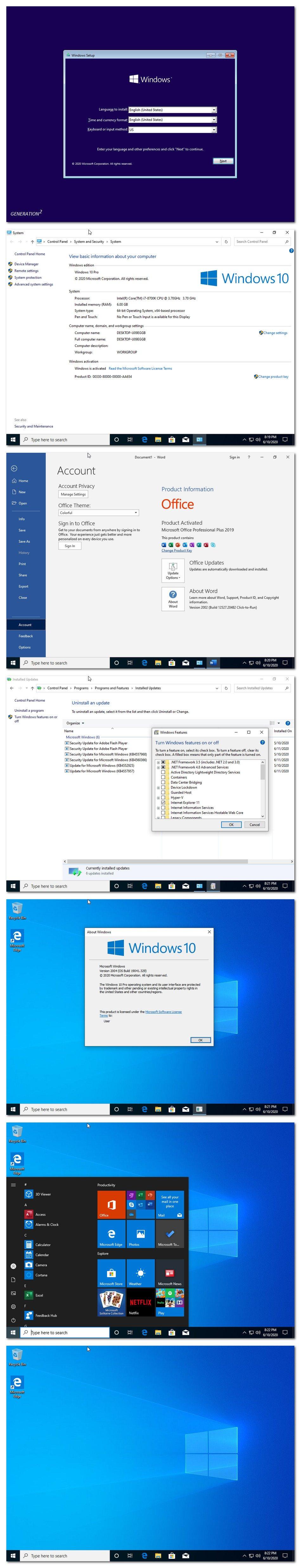 Download Windows 10 X64 Pro Version 2004 Build 19041.329 ...