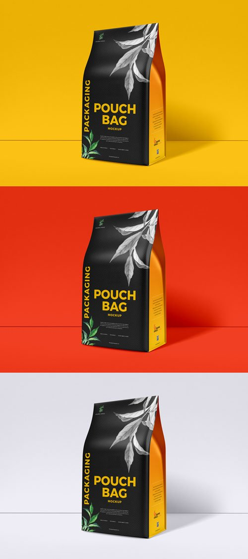 Packaging Pouch Bag PSD Mockup
